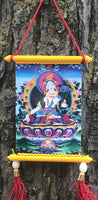 White Tara Mini Thangka