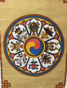 Flower Wheel of Auspicious Symbols Hanging #4