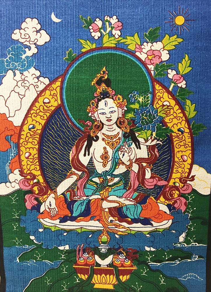 White Tara Wall Hanging #6