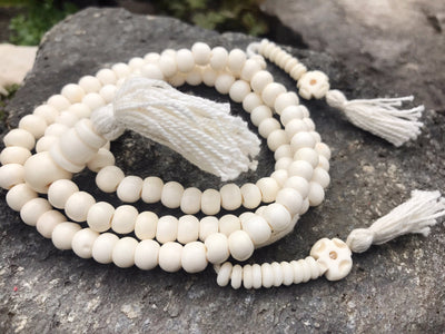 White Bone Mala Small #16