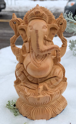 Beautiful Carved Ganesh #12