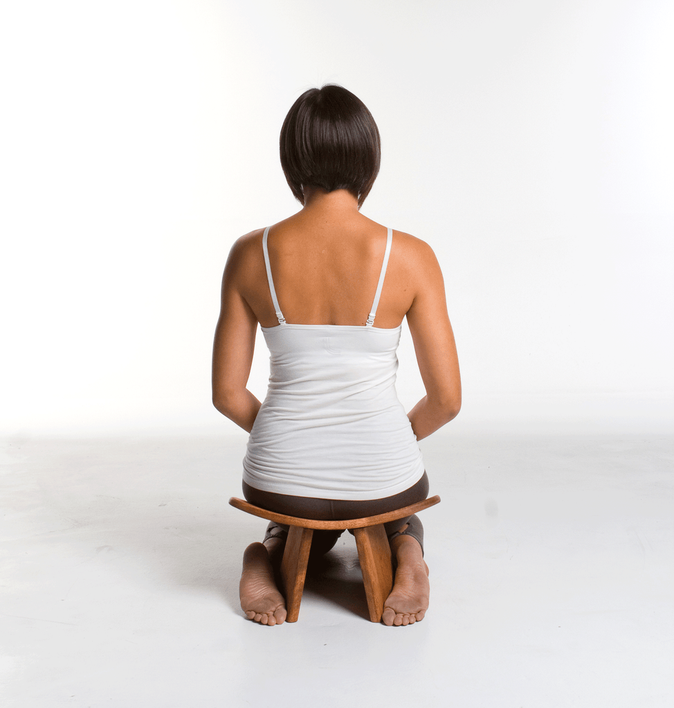 ikuko ergonomic wood mindfulness meditation bench dawn Mauricio