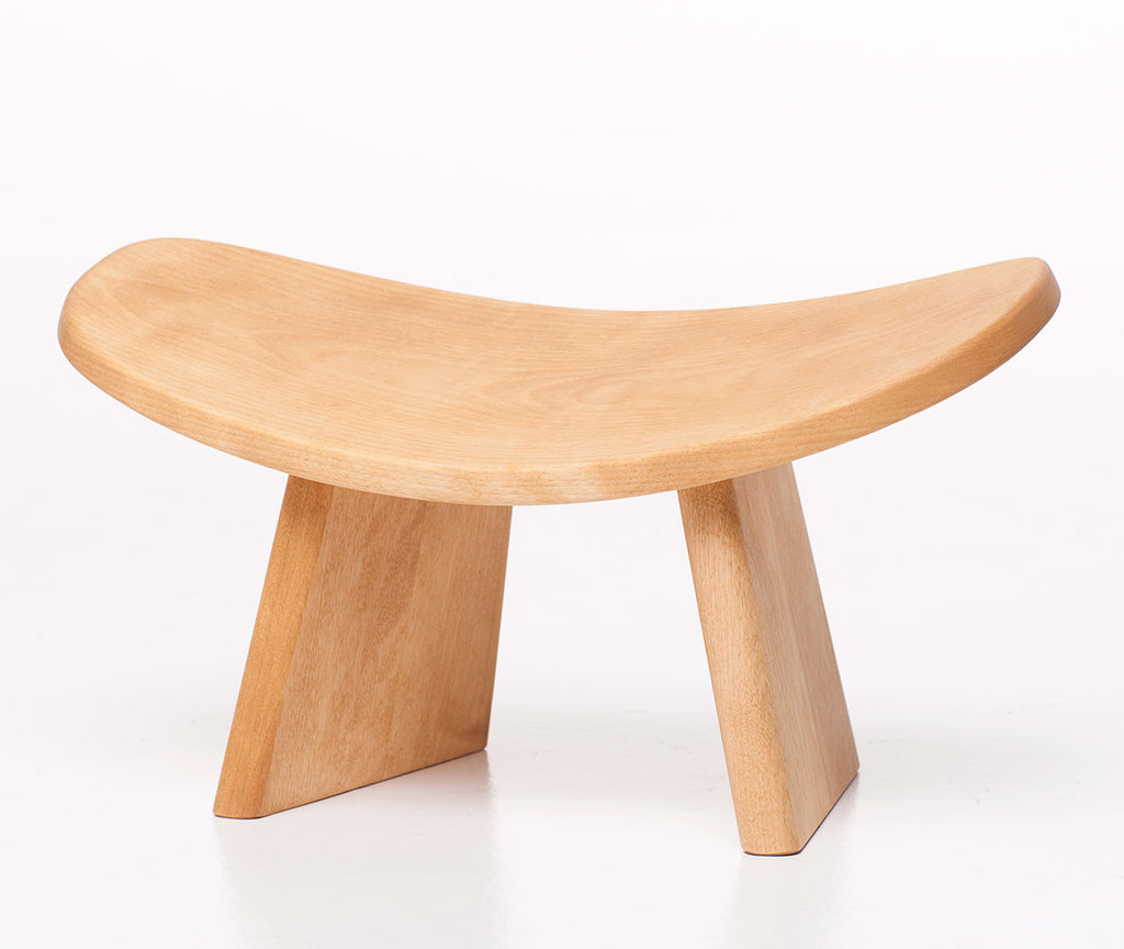 ikuko ergonomic wood kneeling meditation bench assembled natural