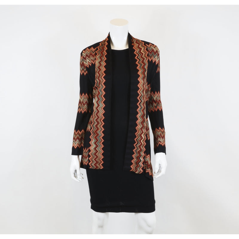 Women's Missoni Black & Orange Size M Cardigan - colletteconsignment.com