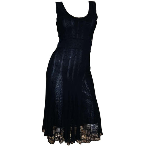 Chanel Navy Size 38 Women's Dress - colletteconsignment.com
