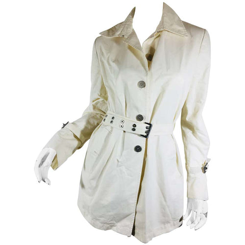 Les Copains Cream Size 42 Women's Coat - colletteconsignment.com