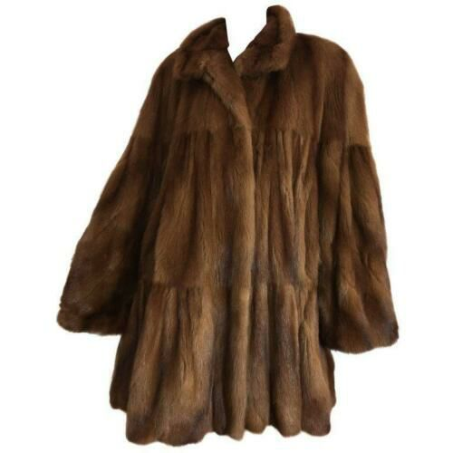 Women's Vito Nacci Size N/S Brown Knee Length Coat - colletteconsignment.com