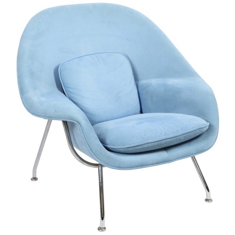 Knoll Blue Mini Womb Chair - colletteconsignment.com