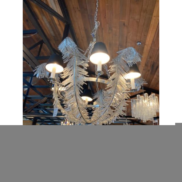 Vintage Crystal Beads Chandelier - colletteconsignment.com