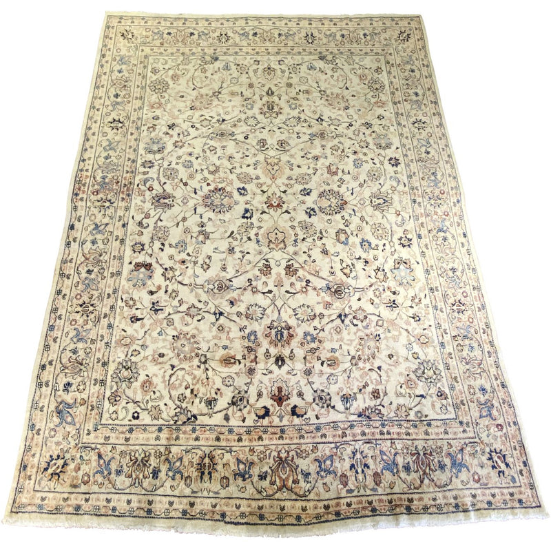 "Persian Rug- Blue/Salmon - 10'2""x13'6"" - colletteconsignment.com"