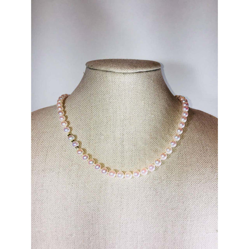 No Label Pearl Necklace - colletteconsignment.com