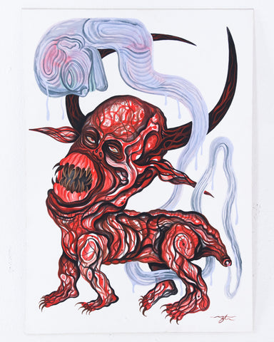 Zach Taylor - Untitled (Red Horned Demon)
