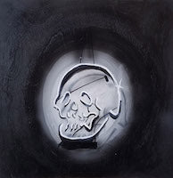 """Neon White Skull"" - Max Williams"