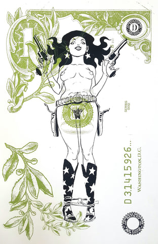 RON WIMBERLY 'OOTHON GIRL' SILKSCREENED PRINT (SIGNED EDITION OF 100)
