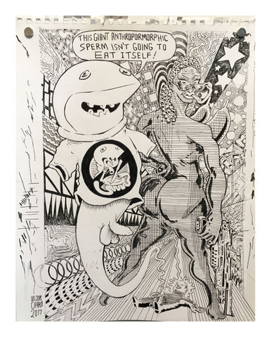 Victor Cayro - Giant Anthropomorphic Sperm won't eat itself