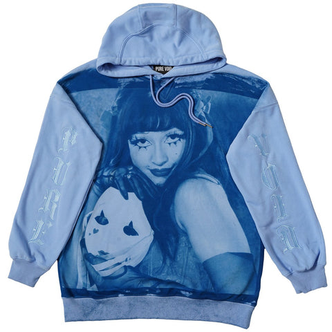 Parker Day PURE VOID Mask Off Cyanotype Hoodie