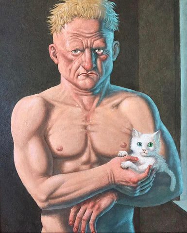 Guy Colwell - Grave Man with Kitten