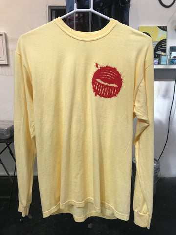 Yellow Long Sleeve Ahol Sniffs Glue Roach Shirt