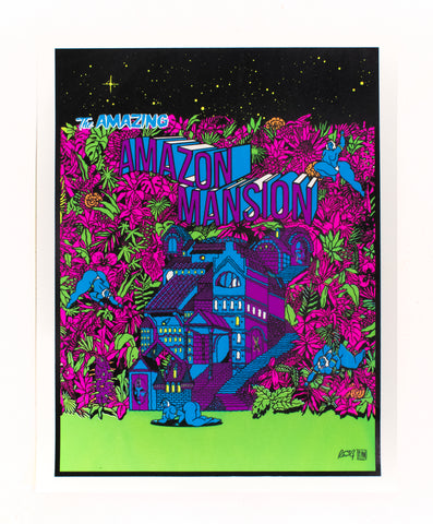 The Amazing Amazon Mansion Print - Ray Reeg & Reggie Pean