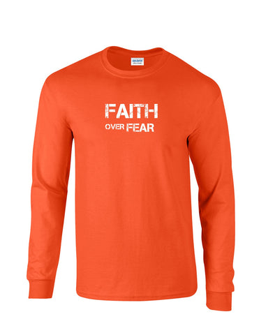 Series 2 FAITH Over FEAR Mens Long Sleeve Tee