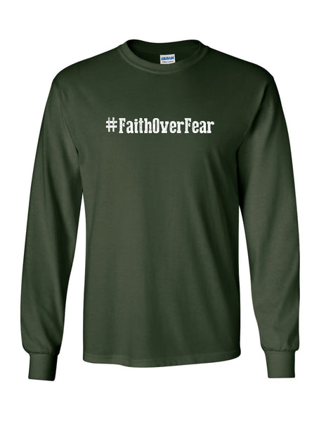 Series 1 #Faith Over Fear Mens Long Sleeve Tee