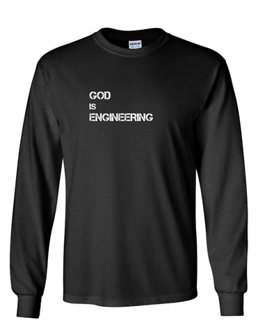 Series 2 GOD is ENGINEERING Mens Long Sleeve Tee