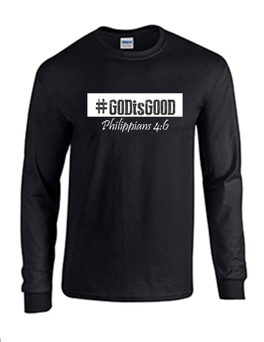 Series 3 #GOD is GOOD Mens Long Sleeve Tee