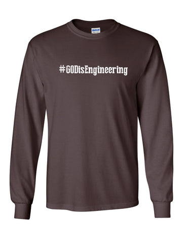 Series 1 #GOD is Engineering Mens Long Sleeve Tee