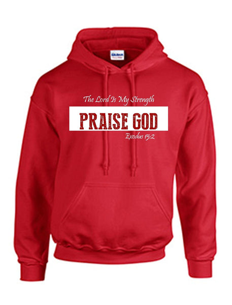 Series 3 The Lord Is My Strength PRAISE GOD Hoodie