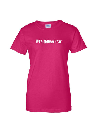 Series 1 #Faith Over Fear Ladies Crew T-Shirt