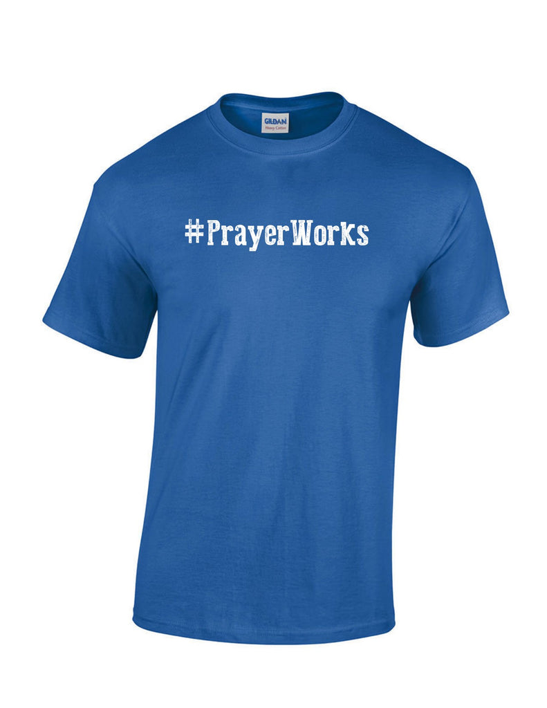 Series 1 #Prayer Works Mens T-Shirt