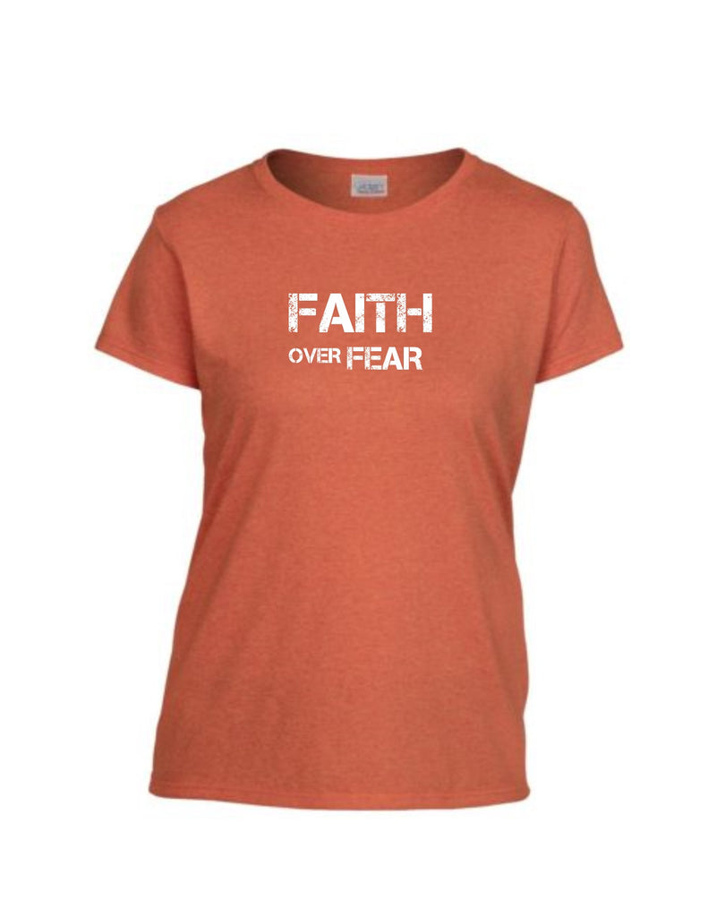 Series 2 FAITH Over FEAR Ladies Crew T-Shirt