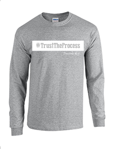 Series 3 #Trust The Process Mens Long Sleeve Tee
