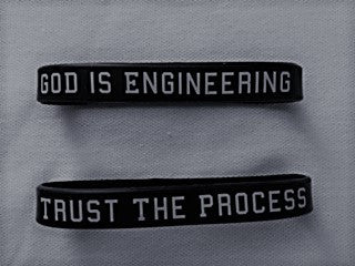 Caption Wristbands (GOD IS ENGINEERING/TRUST THE PROCESS)