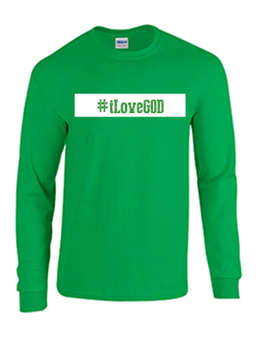 Series 3 #iLove GOD Mens Long Sleeve Tee