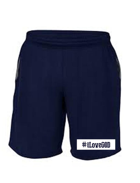 Series 3 #iLove GOD Mens Shorts