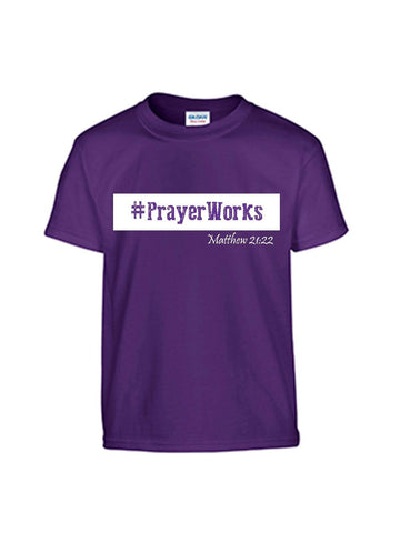 Series 3 #Prayer Works Youth T-Shirt