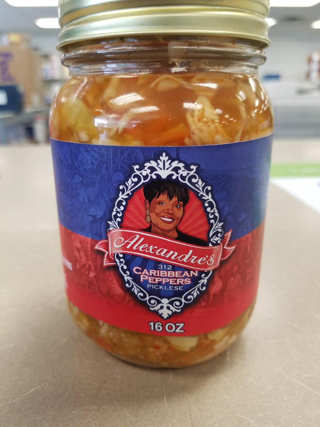 VERY HOT. Alexandre's Caribbean Peppers - Habanero-Pineapple Picklese