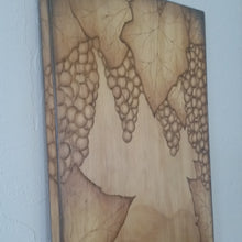 Woodburned Wine Stained Vinyard with Vintage Wine Opener
