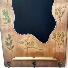 Herbal Apothecary Woodburned Kitchen Chalkboard