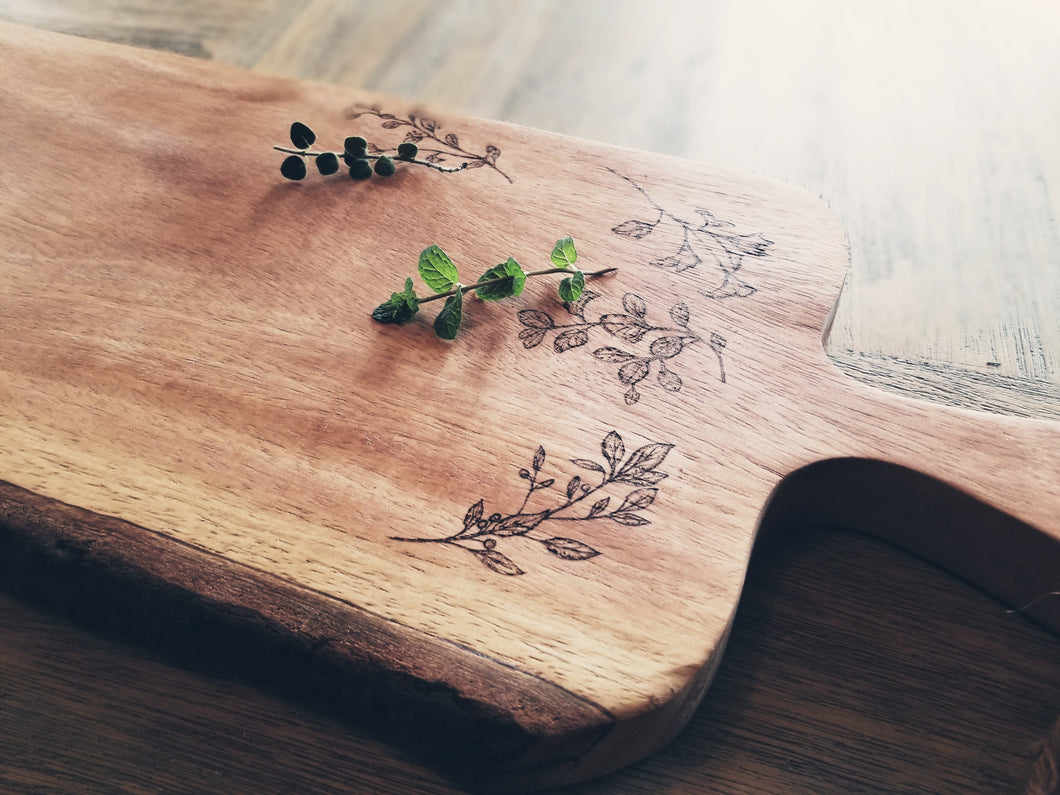 Herbal Apothecary Serving Board