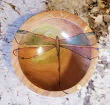 Dragonfly Olive Wood Bowl