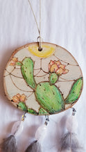 Flowering Prickly Pear Cactus Dreamcatcher