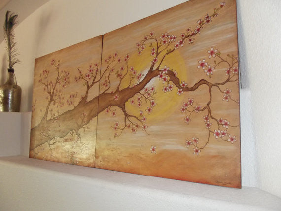 Cherry Blossom Wood Burning/Painting