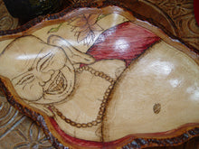 Laughing Buddha Woodburned Bowl