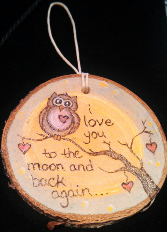 I Love You To the Moon and Back Owl Ornament