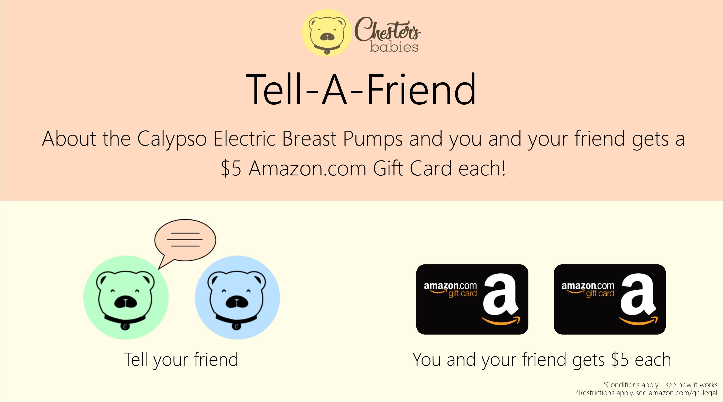Tell-A-Friend and get a $5 Amazon.com Gift Card each!