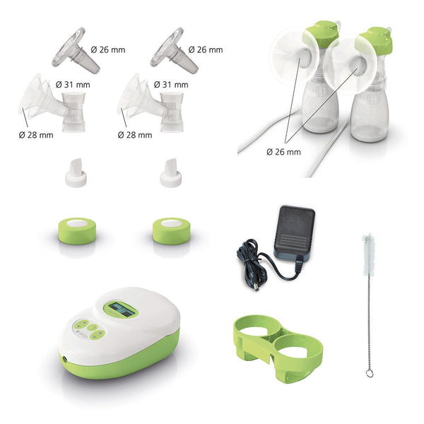 Contents - Calypso double electric breast pump - Chester's Babies