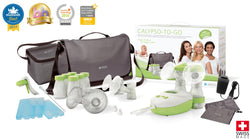 Contents - Calypso To Go - Double Electric Breast Pump Kit - Chester's Babies