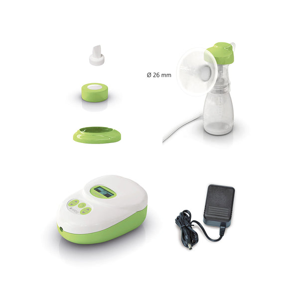 Contents - Calypso single electric breast pump - Chester's Babies